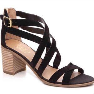 Franco Sarto Hachi Black Suede Sandals